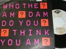 """7"""" - Boys Don't Cry - Who The Am Dam Do You Think You Am - 1987 # 5960"""