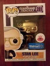 "FUNKO POP MARVEL # 281 ""STAN LEE"" FUTURISTIC GLASSES METALLIC GOLD POP"