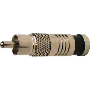 Platinum Tools 28060J RCA RG59 Connectors, Nickel Plate. 50/Jar.