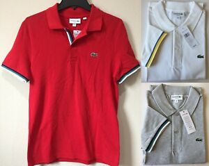 Lacoste Men's Slim Fit 2-Ply Tipped Pique Polo Shirt