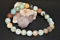 Amazonite Faceted 8mm Bracelet Chakra Crystal Healing Balance Yoga Meditation