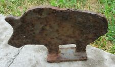 Pig Cast Iron Shooting Gallery Target Vintage Carnival 6