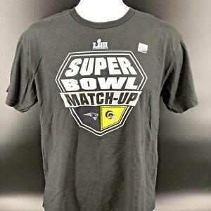 NFL Super Bowl LIII Match-up T-Shirt Patriots Vs. Rams Size Youth XL - NEW -j