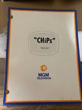 """Rare """"ChiPs"""" Tv Script """"Weed Wars"""" Current-Day Topic Mgm Television Ponch"""