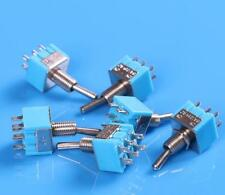10pcs Blue Toggle Switch DPDT Double Pole Double Throw 2 Positions  250V MTS-202