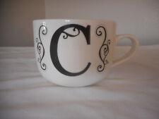 Letter C Mug Coffee Tea Drinkware Black / White
