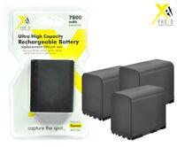 3 Battery Battery for Canon BP-970G BP-950 BP-975 XL1 XL1S XL2 C 100 C 300 C 500