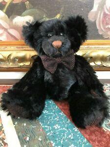 "First & Main Black Bear "" RARE BEAR "" 9 inch Nr. 1482 Retired"