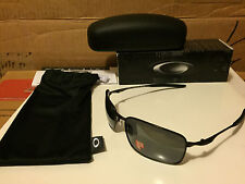 NEW Oakley Ti Square Wire Pewter (Titanium) / Black Iridium Polarized, OO6016-02