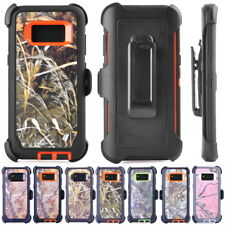 Camo Realtree Case For Samsung S9 S8 Plus Note 8 Clip Belt Fit OTTERBOX DEFENDER