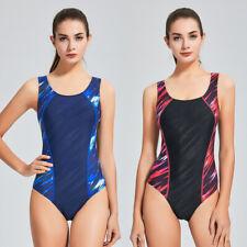 Competitive One Piece Swimsuit Women's Athletic Swimwear Training Bathing Suit