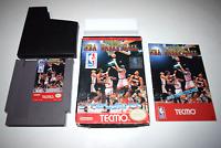 Tecmo NBA Basketball Nintendo NES Video Game Complete in Box