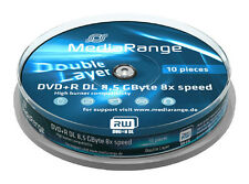 20 MediaRange DVD Rohlinge Double Layer 8.5 GB DVD+R 8x fach Dual Layer