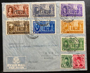 1946 Cairo Egypt First Day Cover To Switzerland Meeting Of Arab Kings & Chiefs