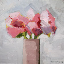 Paul Donaghy-Rosa TRIO-Ready incorniciato tela 40x40cm