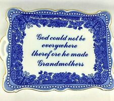 I. Godinger & Co Ornamental Blue & White China Dish Grandmother Gift Birthday