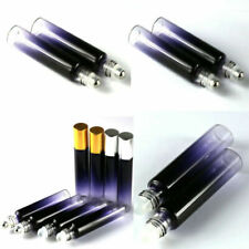 2~100PCS 10ml Glass Roll on Bottles Essential Oil Perfume Metal or Glass Roller