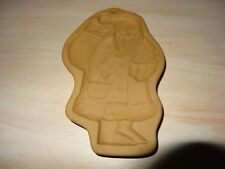 Brown Bag Cookie Art Ceramic Shortbread Mold Santa St. Nick