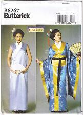 Geisha Girl Japanese Kimono Dress Obi Belt Costume Sewing Pattern 6 8 10 12 14