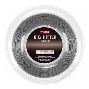Tourna Big Hitter Silver - 1.30mm 16G 726ft 220m Reel Tennis String