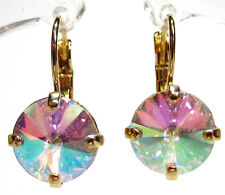SoHo® Ohrhänger Strass Kistalle rivoli crystal aurore boreale gold Ohrringe