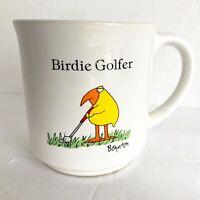 Vintage Sandra Boynton Birdie Golfer Coffee Mug Cup Funny Golf Gift