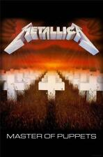 OFFICIAL LICENSED - METALLICA - MASTER OF PUPPETS TEXTILE POSTER FLAG HETFIELD