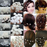 20/40Pcs Chic Crystal Hair Pins Clips Wedding Bridal Pearl Flower Bridemaid Cute