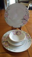Azalea Noritake Dinner Plates Bread and Butter Plates Berry Bowls 2 each 1930's
