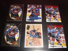 Joe Sakic Colorado Avalanche Quantity 6 Card Hockey Card Lot Mint Condition