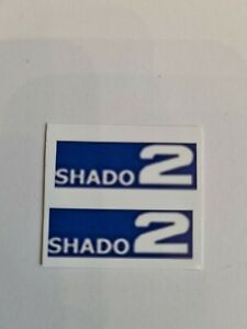 Dinky Toys 353 Shado 2 Stickers/ Labels Blue/White