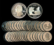 Roll of 40 2004-S Proof Wisconsin 90% Silver Quarters