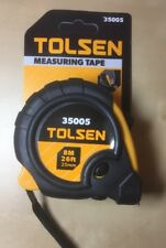 Tolsen 8M 26FT Heavy Duty Measuring Tape Metric Imperial FREE SHIPPING