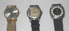 3 RARE VINTAGE1930s 1960s FELCA LUCERINE SEKONNDA MECHANICAL WATCHES FOR REPAIR