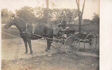Real Photo Postcard Horse Pulled Grocery Delivery Wagon~112349