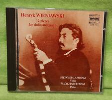 Henryk Wieniawski 12 Pieces for Violin & Piano CD Stalanowski - Paderewski