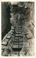 Boulder Dam Construction Nevada Fransher RPPC Photo Postcard Cableway 20-2669