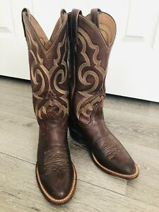 Nocona Cowboy Western Boots Brown Leather Women Size 6.5 B