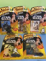 Lot Of 5 Star Wars Die Cast Figures ACTION MASTERS Vader Luke C3PO R2 Trooper