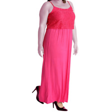 Strappy Lace top maxi dress - Plus sizes