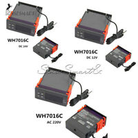 WH7016C DC12V/24V AC220V Digital Temperature Controller Thermostat LCD Display