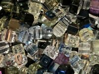 Beads Crystal Cube Beads 6MM 1/2 pound czech glass beads