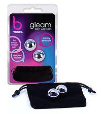 Gleam Weighted Balls Silver - Blush Novelties