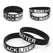 Black Lives Matter Awareness Silicone Bracelet Wristband Wrist Band Support