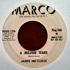 NORTHERN SOUL - JAMES MC CLEESE - A MILLION TEARS - MARCO 45 - WHITE LBL PROMO