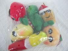 DEL MONTE FRUIT VEGETABLES PLUSH YUMKINS CHRISTMAS ORNAMENTS NEW