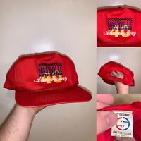 Vintage Nashville Auto Auction 40th Anniversary Hat One Size Red Speedway 90s