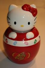 Hello Kitty Jelly Belly Jelly Beans Ceramic Jar Dish Sanrio Air Tight Lid