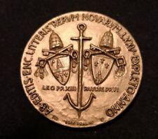 Medaglia Papa Paolo VI - LXXV anniversario Rerum Novarum di Leone XIIIargento