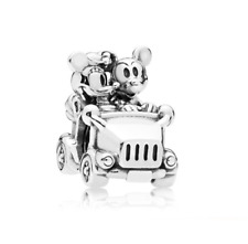 DIY 925 Silver Mickey Minnie Charm European Spacer Beads Fit Necklace Bracelet !